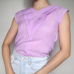 Vintage Handmade Lilac Chevron Shirt
